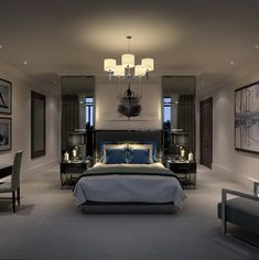 Bedroom - contemporary design - masculine   CID Interior