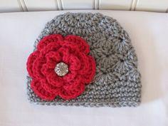 Cute & Kozy Crocheted Girls Christmas Winter Hat  by Kookstickers, $16.50