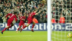 Anfield. December 2004. Olympiakos. 86 minutes. Sheer pandemonium.