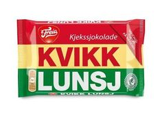 """KVIKK LUNSJ The Scandinavian version of KitKat bar, these chocolate-covered wafers are beloved by all Norwegians. Kvikk Lunsj (literally 'Quick Lunch' – NOT take a break. An important disclaimer for *ahem* legal purposes) has been produced in Norway since the 1930s and its image is strongly tied to the outdoors – it's marketed as the """"hiking chocolate."""""""