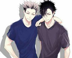 Bros for life - bokuroo - bokuto koutaro / kuroo tetsurou - haikyuu! Kuroo Haikyuu, Haikyuu Fanart, Kagehina, Haikyuu Anime, Haikyuu Ships, Kuroo Tetsurou Hot, Anime Boys, Hot Anime Guys, Manga Anime