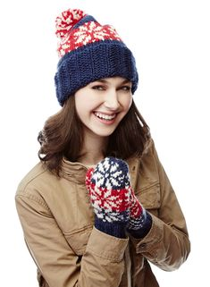 Downtown Snowflakes Set —  I Like Knitting is giving this classic hat-and-mittens knitting pattern free to non-subscribers until 12/26. Don't miss out!