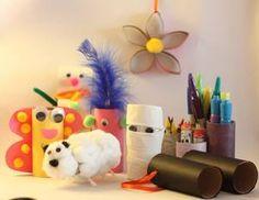 Diez manualidades con rollos de papel higiénico. #Manualidades #RollosDePapelHigienico #Crafts #ToiletPaperRolls