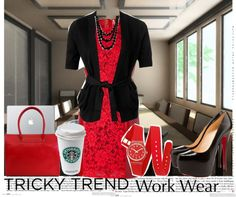 """TRicky Trend Work Wear Contest"" by mokeitha ❤ liked on Polyvore"