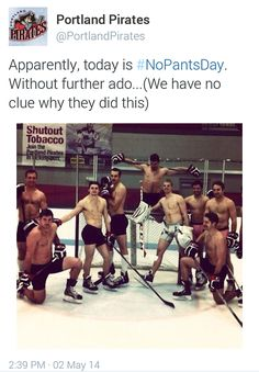Wow, just wow. Why can't every team do this? Leave it to the Portland Pirates #Hockey #humor
