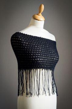 Chauffe épaules en laine noire