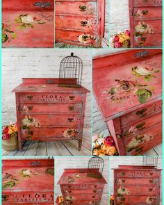 toned vintage dresser makeover 108 - ALL ABOUT Decoupage Furniture, Chalk Paint Furniture, Hand Painted Furniture, Distressed Furniture, Shabby Chic Furniture, Furniture Projects, Rustic Furniture, Painted Chairs, Furniture Design