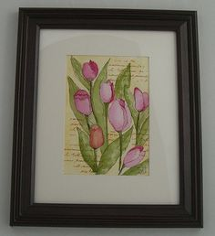 Framed Watercolor by wildflowerhouse, via Flickr