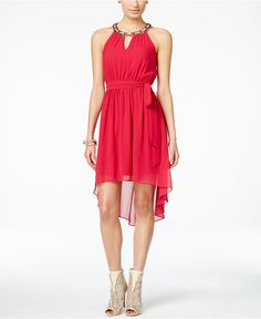 Thalia Sodi Embellished Halter High-Low Dress, Only at Macy's - High Low Dresses - Browse - Macy's