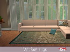 evi's Wicker rugs Game Creator, Sims Community, Sims Resource, Electronic Art, Sims 4, Wicker, Rugs, Content, Home Decor