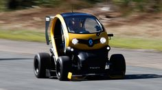 The standard Twizy's faster than a hovercraft. This one's faster than just about anything