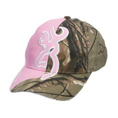 I love love thisBrowning Women Realtree Camouflage And Buckmark One size fits Pink camo Hat