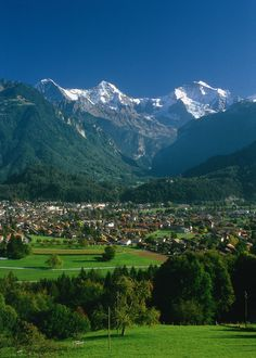 Beautiful Interlaken in the Berner-Oberland Region of Switzerland