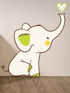 Baby Elephant Wall Decal by Decor Designs at Gilt