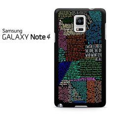 Avenged Sevenfold Lyrics Quotes Samsung Galaxy Note 4 Case