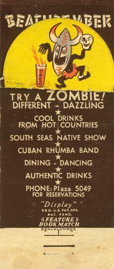 Vintage Tiki Bar Matchbook. Vintage Tiki, Tiki Bar, Tiki Decor!