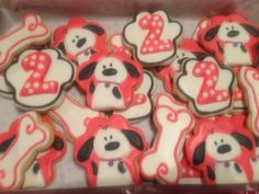 Cookies for a dog themed 2nd birthday party
