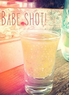 "Babe Shot! 1/2 lemon 1"" piece of ginger clove of garlic in the juicer, add a splash of water and bottoms up!"