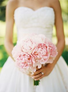 Perfect pink peonies bouquet