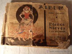 ANTIGUO ALBUM CROMOS BLANCANIEVES BLANCA NIEVES WALT DISNEY A FALTA DE SOLO 5 CROMOS, DE FHER