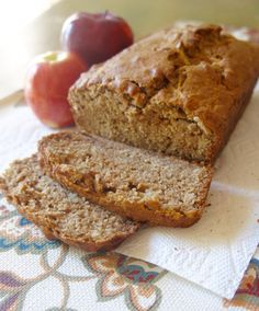Spiced Applesauce Bread - a healthy, no-frills quick bread! | A Love Letter to Food | www.alovelettertofood.com
