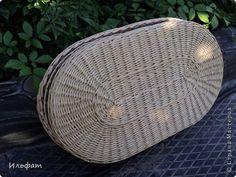 дно овальное мк у Ричарда Поделка изделие Плетение На досуге Бумага газетная Трубочки бумажные фото 6
