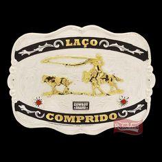 Fivela Laço Comprido com Detalhes em Strass - Cowboy Brand 16404