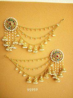Women Gold Plated Indian Bollywood Fashion Party Ethnic Bridal Jhumka Earring #bridaljewellery