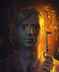 Surreal Storytelling Illustrations by Andrew Ferez - My Modern Met  pinning b/c it's super creeepy!!!
