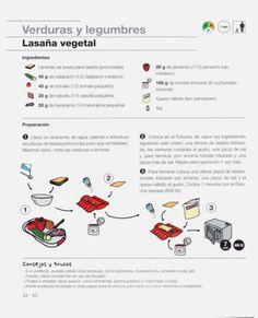 Lékué & Fundación Alicia - De la cocina a la mesa en 10 minutos.pdf Diet Ideas, Recipes, Easy Food Recipes, Vegetables, Beginner Recipes, Eating Clean, Recipies, Ripped Recipes, Cooking Recipes