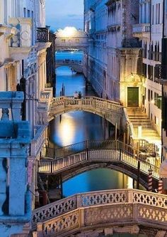 The Bridges and Canals in Venice Italy