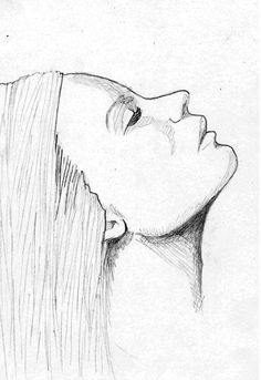 Face Drawing Woman Face Sketch by Hendy Thong, via Behance - Face Profile Drawing, Side Face Drawing, Female Face Drawing, Woman Drawing, Face Outline, Outline Drawings, Cool Art Drawings, Art Drawings Sketches, Pencil Drawings