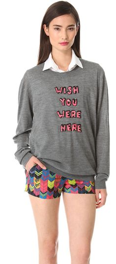 Wish You Were Here Sequin Sweater - Lyst