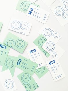 Hands-On! Make your own business cards ( two stamp templates + precut cards )