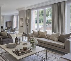 Love the use of the large rug to separate the living area. Photo from Sophia Paterson Interiors