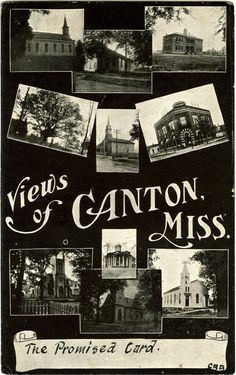 """Cooper Postcard Collection  """"Views of Canton, Miss.""""  Canton, Mississippi, Madison County"""