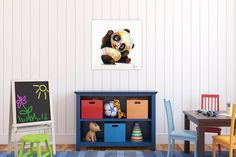 Acryl Gemälde 'Hipster Panda' 60x60cm