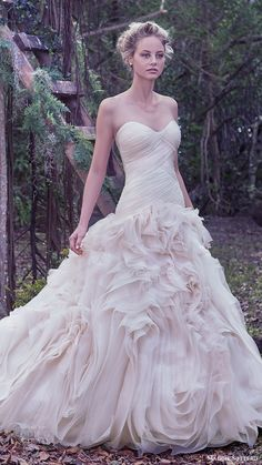 maggie sottero bridal fall 2016 strapless sweetheart ball gown wedding dress…