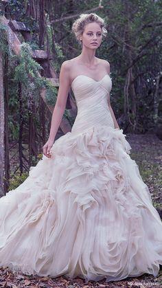 maggie sottero bridal fall 2016 strapless sweetheart ball gown wedding dress (penny) mv flange skirt
