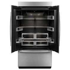 JJF42NXFXDE Obsidian French Door Refrigerator   Panel Ready At  Shop.Ferguson.com