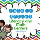 This Back To School themed packet includes 8 literacy and math centers to help your students start the year off right!  *ABC Order *Sight Words Fun...