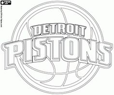 Najlepsze obrazy na tablicy NBA Teams Logos Coloring Pages