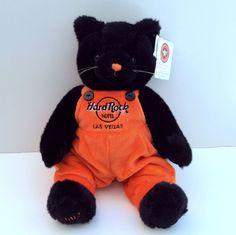 Hard Rock Hotel Las Vegas LE 2002 Halloween Black Kitty Cat #159/360 MWT Rare