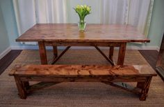 Farmhouse Table by TheBrothersWeir on Etsy