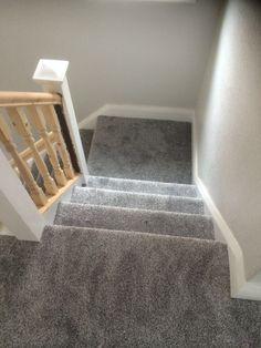 Grey carpet white walls light grey carpet bedroom carpet bedroom ideas gray bedroom walls grey and . Stairs Landing Carpet, Grey Stair Carpet, Grey Carpet Hallway, Grey Hallway, Dark Carpet, White Carpet, Carpet Stairs, Brown Carpet, Houses