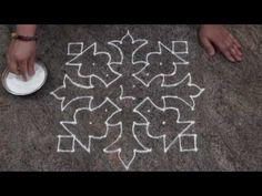 Easy and Simple Rangoli Design/ Simple Dot Rangoli Design with 10 dots Rangoli Designs Peacock, Rangoli Designs Simple Diwali, Rangoli Patterns, Small Rangoli Design, Rangoli Border Designs, Rangoli Designs With Dots, Rangoli With Dots, Beautiful Rangoli Designs, Dot Rangoli