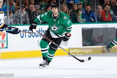 News Photo : Jamie Benn of the Dallas Stars skates against the...