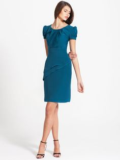 Vintage Puff Sleeve Dress | Plus and Petite sizes available » So classic and pretty.