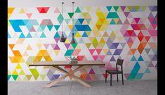 Decoración de pared - Triángulos mediados del siglo - Murales de pared - hecho a mano por Wall-Decals en DaWanda