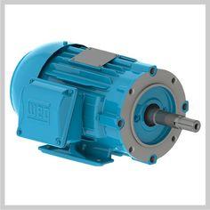 WEG TEFC Close Coupled Pump Motor http://www.pamensky.com/industrial-electric-motors/